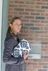 Navy Avery Diaper Clutch