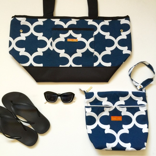Tote & Wet bag set Navy Ahoy